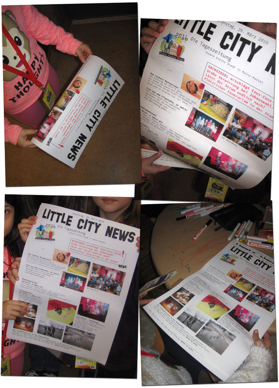 newspaper & streetart workshop . Unsere kleine Stadt 2016 . Nr. 3 Kinder- und Jugendzentrum in der Reduit . Mainz-Kastel . explorerkids*