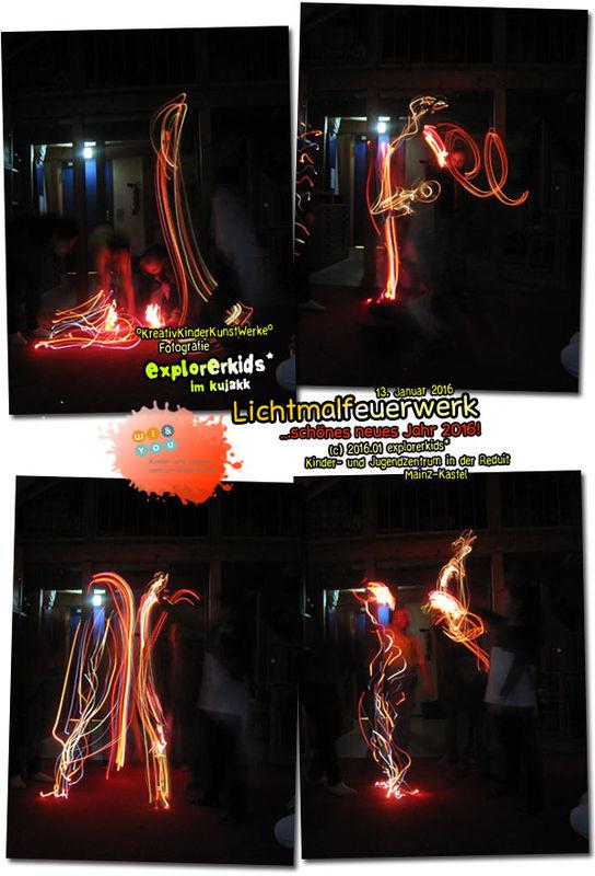 Lichtmalfeuerwerk . explorerkids* im kujakk