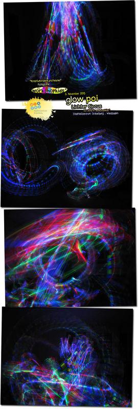 glow poi . Lichter Circus . Lichtmalen mit Circussachen