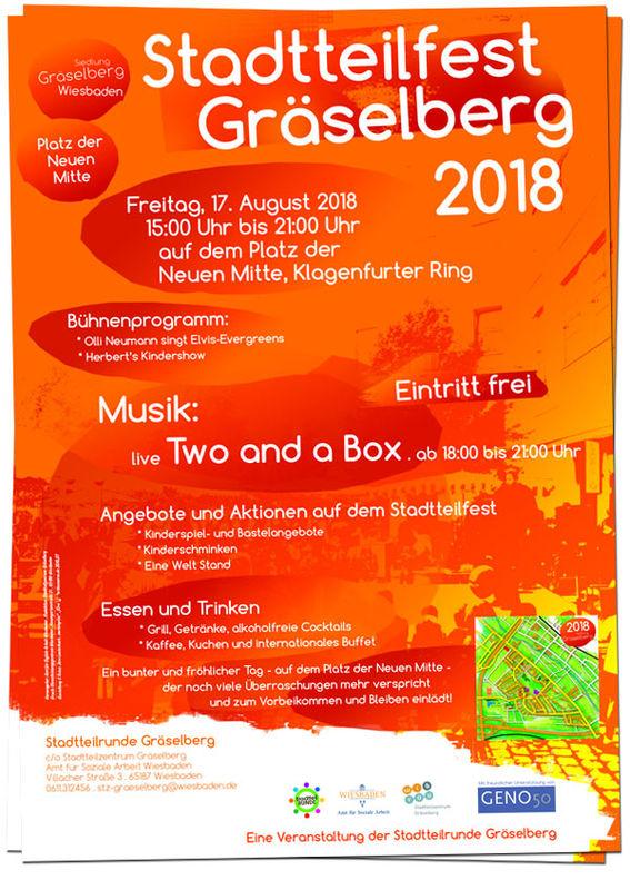 Stadtteilfest Gräselberg . Neue Mitte Gräselberg . Wiesbaden-Biebrich / Stadtteilzentrum Gräselberg . Wiesbaden