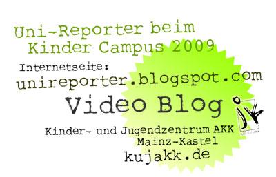 Uni-Reporter beim Kinder Campus 2009 . Kinder Universität Wiesbaden . explorerkids*