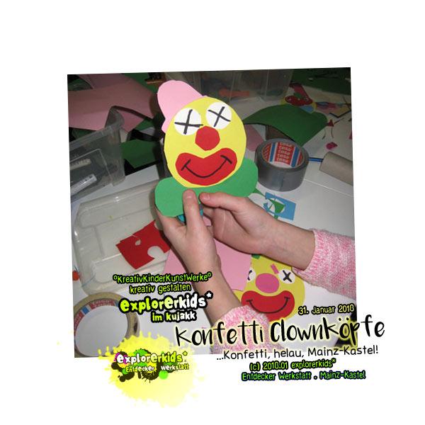Konfetti Clownköpfe . explorerkids*