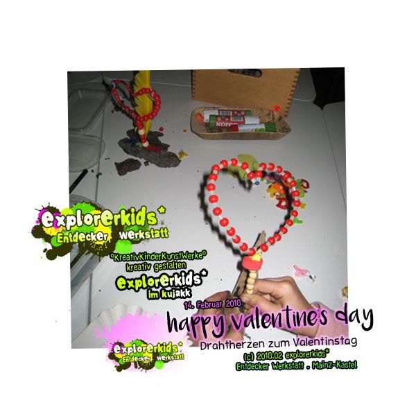 happy valentine's day 2018 . Drahtherzen zum Valentinstag . explorerkids*