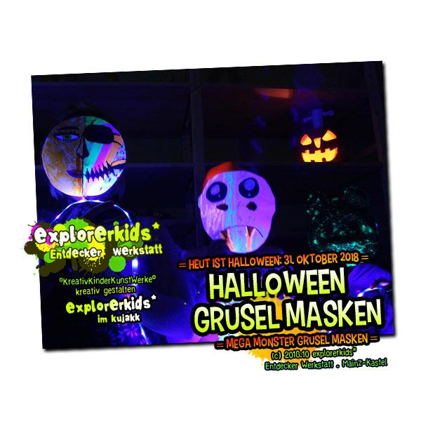Halloween Grusel Masken 2018 . explorerkids*
