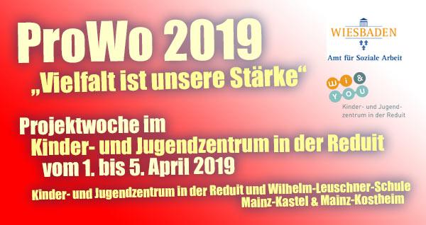 """Gemeinsame Projektwoche """"Vielfalt ist unsere Stärke"""" des Kinder- und Jugendzentrums Reduit und der Wilhelm-Leuschner-Schule in Mainz-Kastel & Mainz-Kostheim"""