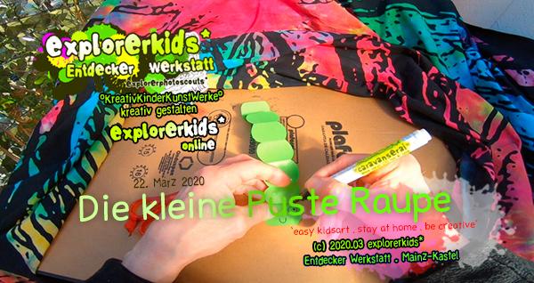 Die kleine Puste Raupe . ...und sie kann richtig krabbeln! . stay at home . be creative _ bleib zuhause . sei kreativ . #epkartwork #easykidsart . explorerkids* online . explorerphotoscouts* . 22. März 2020 flurrykid* by morningrise* . jOrn . creativesocialmediacloud & artkonserve.de . Entdecker Werkstatt im kujakk . Kinder- und Jugendzentrum in der Reduit . Mainz-Kastel