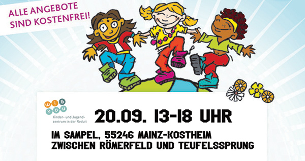 Spielstraße im Sampel am 20.09.2020 . Weltkindertagsfest . Weltkindertag 2020 . Sonntag, 20. September 2020