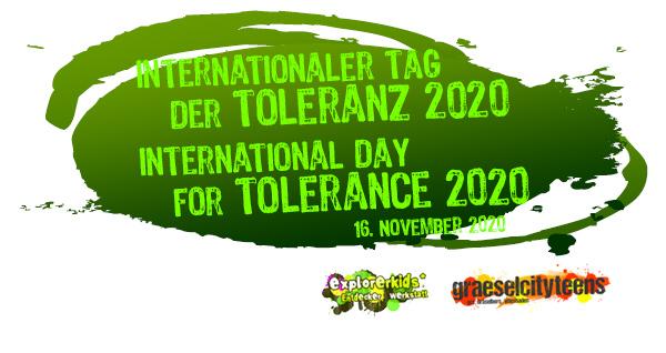 Internationaler Tag der Toleranz . ...auf Demokartie aufmerksam machen! . Montag, 16. November 2020 . Heute ist internationaler Tag der Toleranz . explorerkids* Entdecker Werkstatt im kujakk . graeselcityteens ...auf dem Gräselberg