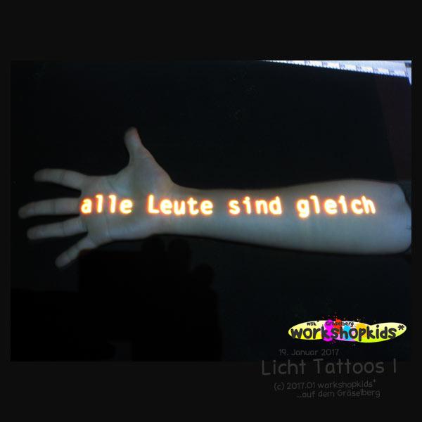 Licht Tattoos I . workshopkids*