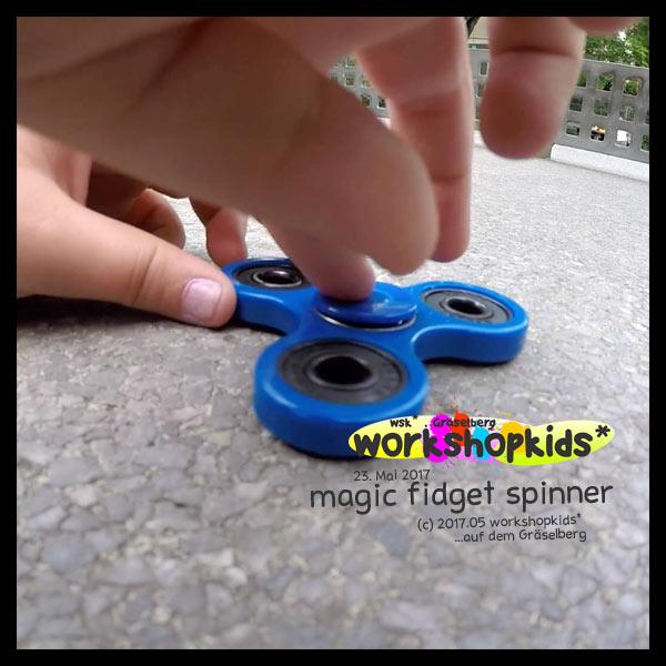 magic fidget spinner . GraeselCityKids . workshopkids*