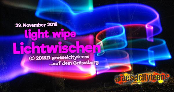 light wipe / Lichtwischen . graeselcityteens .  Stadtteilzentrum Gräselberg . Wiesbaden