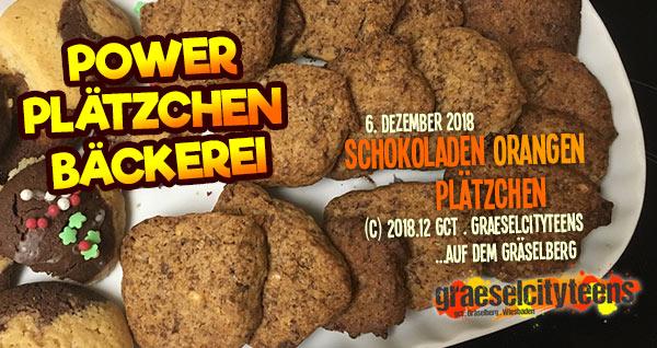 Power Plätzchen Bäckerei . Schoko Orangen Plätzchen . graeselcityteens .  Stadtteilzentrum Gräselberg . Wiesbaden