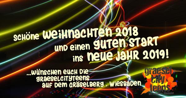 Schöne Weihnachten 2018... und einen gute Start ins neue Jahr 2019 . graeselcityteens .  Stadtteilzentrum Gräselberg . Wiesbaden