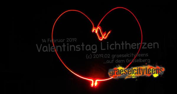 Valentinstag Lichtherzen . Lichtmalen . graeselcityteens . gct .  Stadtteilzentrum Gräselberg . Wiesbaden
