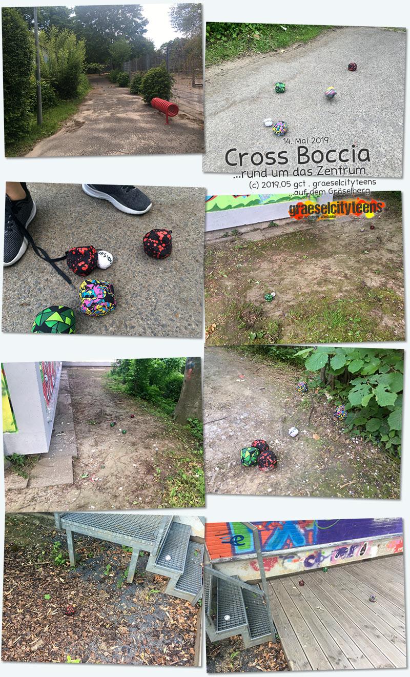 Cross Boccia . ...rund um das Zentrum . 14. Mai 2019 . graeselcityteens . Stadtteilzentrum Gräselberg . Wiesbaden