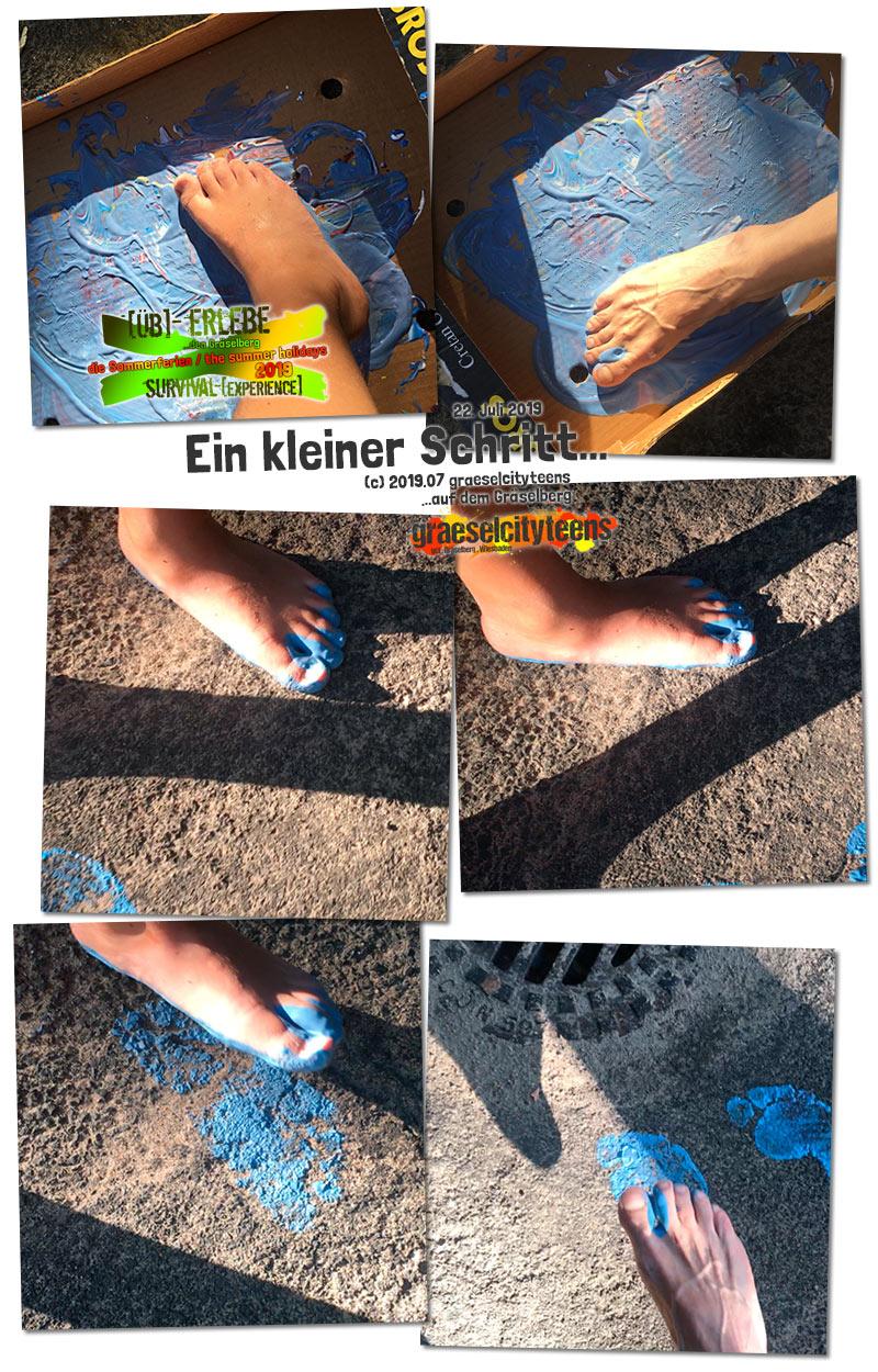 Ein kleiner Schritt... . [Üb]-Erlebe ...den Gräselberg . die Sommerferien / the summer holidays . survival-[experience] . graeselcityteens . Stadtteilzentrum Gräselberg . Wiesbaden