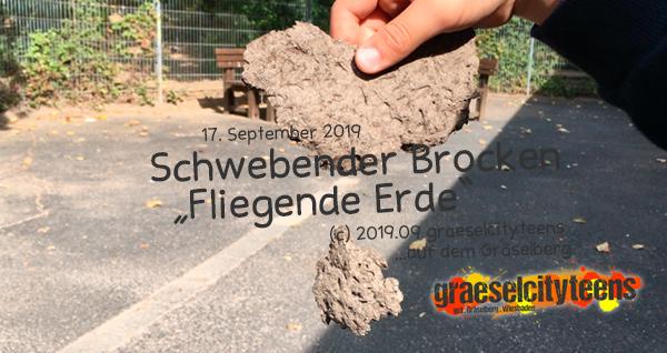Schwebender Brocken . graeselcityteens . 17. September 2019 . Stadtteilzentrum Gräselberg . Wiesbaden