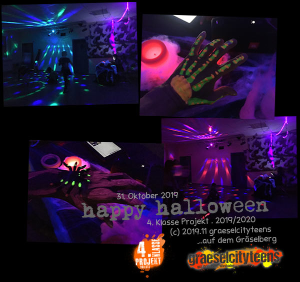 happy halloween . ...eine kleine Gruselparty . 31. Oktober 2019 . Stadtteilzentrum Gräselberg . Wiesbaden