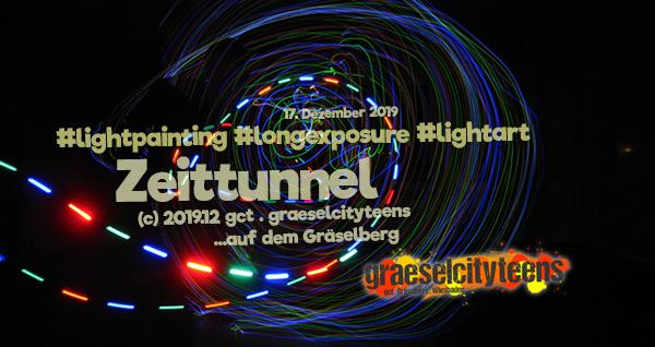 Zeittunnel . Lichtmalen . 17. Dezember 2019 . graeselcityteens . Stadtteilzentrum Gräselberg . Wiesbaden