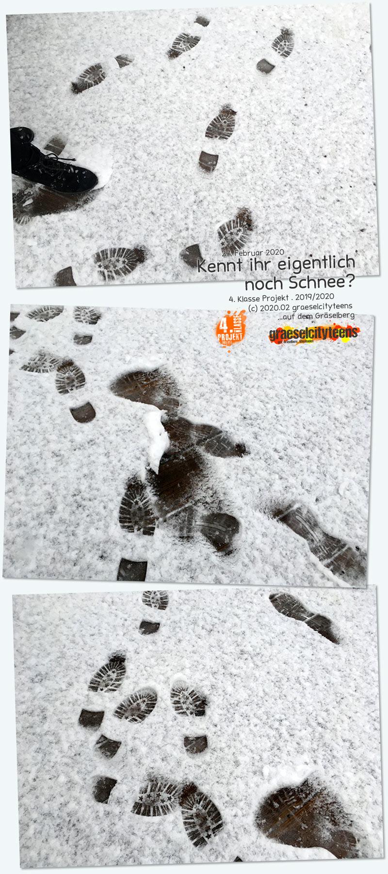 Kennt ihr eigentlich noch Schnee? . ...nee, hier seht ihr welchen! . 27. Februar 2020  . Kooperationsprojekt . 4. Klasse Projekt . graeselcityteens . Stadtteilzentrum Gräselberg . Wiesbaden