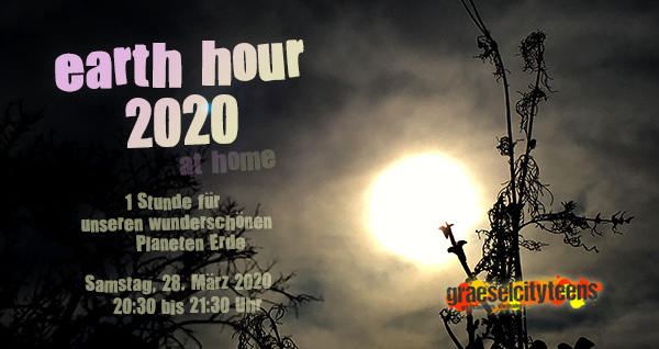 earth hour 2020 . Samstag, 28. März 2020 . 20:30 bis 21:30 Uhr . Wiesbaden . planet earth