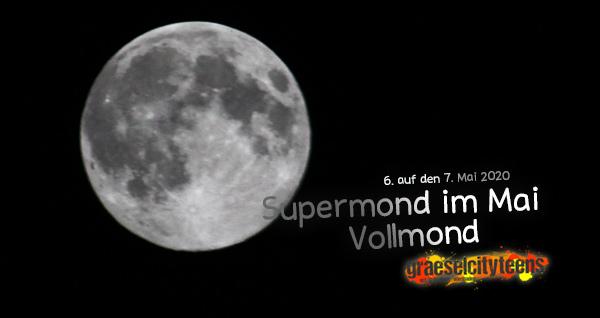 SUPERVOLLMOND . 6. auf den 7. Mai 2020 . ...schaut euch heute Nacht einmal den Vollmond an! . 6. Mai 2020 . graeselcityteens ...auf dem Gräselberg . Stadtteilzentrum Gräselberg . Wiesbaden . planet earth