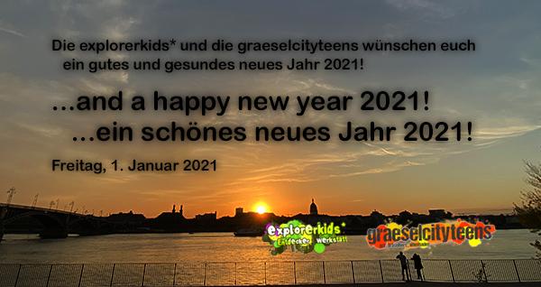 ...and a happy new year 2021! . ...und ein schönes neues Jahr 2021! . 1. Januar 2021 . explorerkids* . Entdecker Werkstatt im kujakk . kujakk . Kinder- und Jugendzentrum in der Reduit . Mainz-Kastel . & . gct . graeselcityteens ...auf dem Gräselberg . Stadtteilzentrum Gräselberg . Wiesbaden