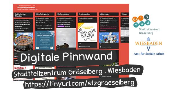 Digitale Pinnwand . Stadtteilzentrum Gräselberg . stzgraeselberg . Stadtteilzentrum Gräselberg . Wiesbaden