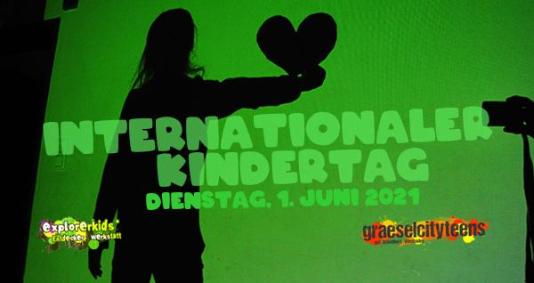 Internationaler Kindertag . ...ein Feiertag für Kinder! . Dienstag, 1. Juni 2021 . explorerkids* . Entdecker Werkstatt im kujakk . kujakk . Kinder- und Jugendzentrum in der Reduit . Mainz-Kastel . & . gct . graeselcityteens ...auf dem Gräselberg . Stadtteilzentrum Gräselberg . Wiesbaden
